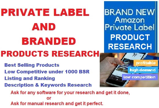 research private label, brand products to market on amazon