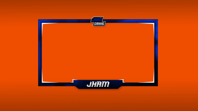 i will design you a custom facecam border