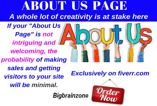 write an irresistible about us page