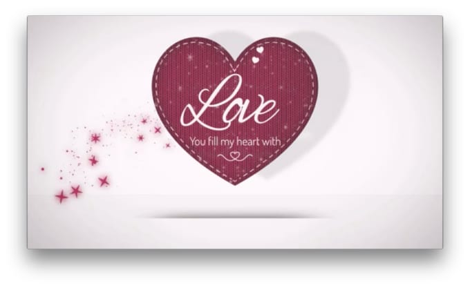 Create valentines day love hearts greeting card message logo video create valentines day love hearts greeting card message logo video m4hsunfo