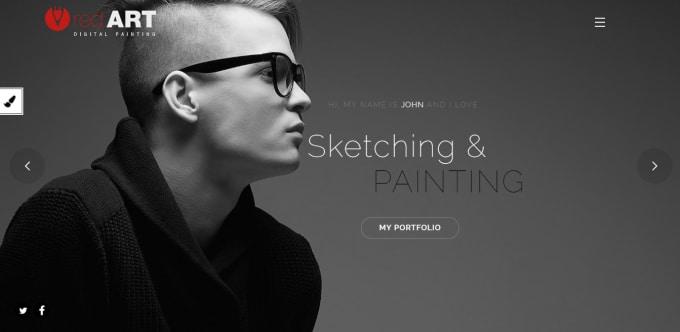 design photography and modeling portfolio website