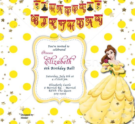 I Will Design Themed Birthday Invitations