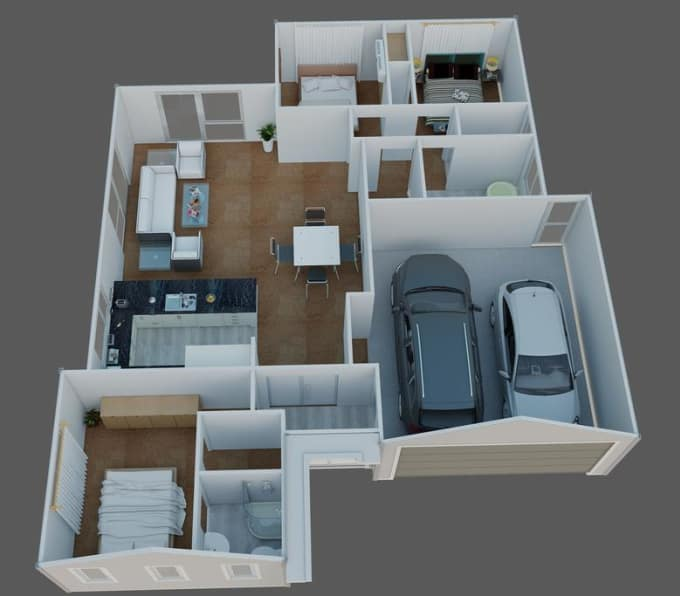 Design Your Own House, 3d House Plan, 3d House Plans By