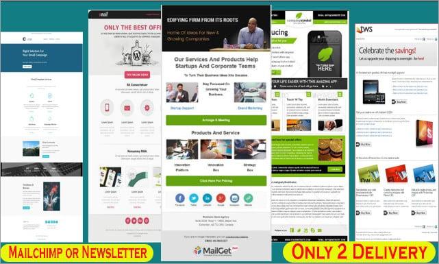 Email Template Design Responsive Mailchimp Newslet