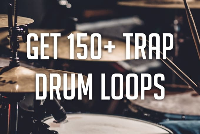 Send you over 150 trap drum loops and samples royalty free by