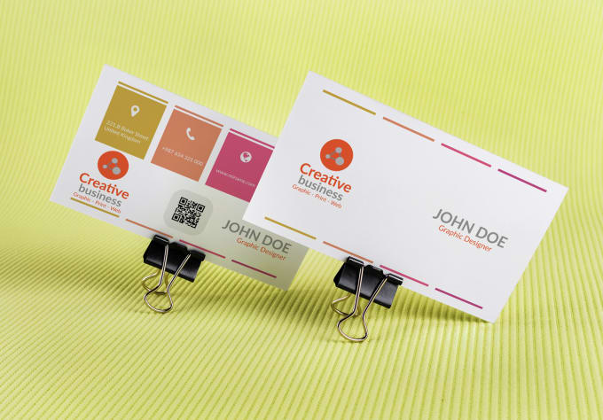 Minimalist corporate business card design fiverr do minimalist business card or postcard design very fast reheart Images