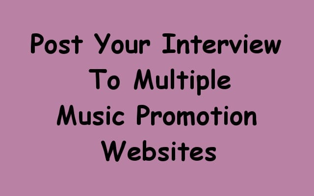 conduct a phone interview and post to multiple music sites