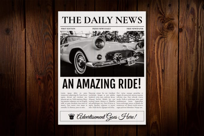 Provide You With A Google Docs Newspaper Template By Tedfull
