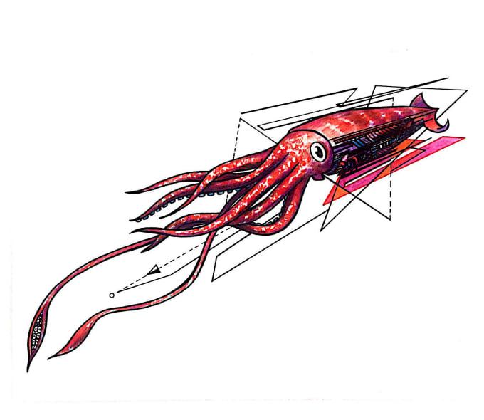 Create an original geometric tattoo design by Emilie22