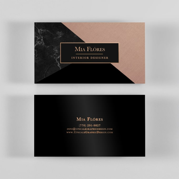 Design a luxury business card by Selenabuckner