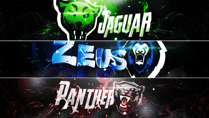 make a 3d youtube banner with your name and logo by cheetah870