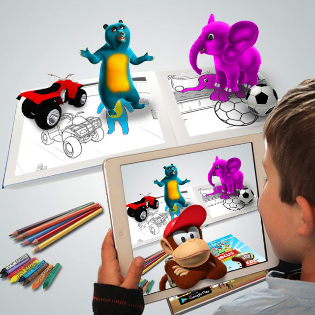 Create Augmented Reality App Book Coloring Flash Card