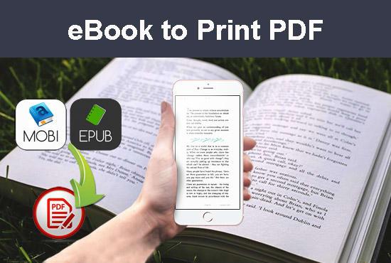 convert epub or mobi to PDF for print