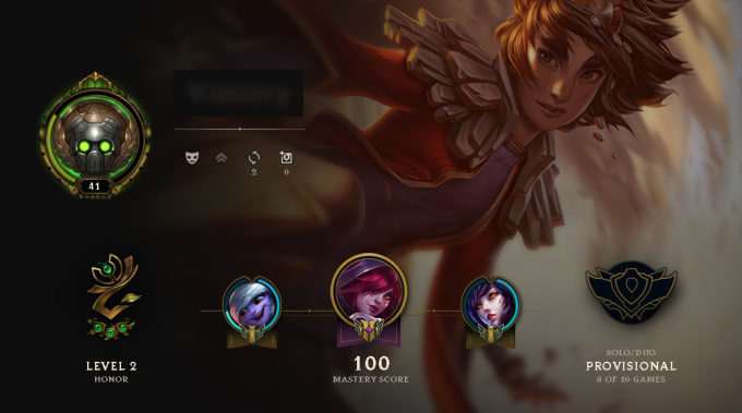 vimitry : I will level up your league of legends account for $5 on  www fiverr com