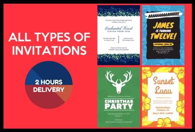 Design Unique Invitation Cards Of All Types