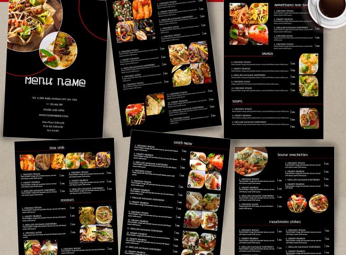 Design awesome food menu restaurant flyer banner