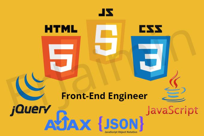 do jquery, javascript, ajax, json, api, html5, css3