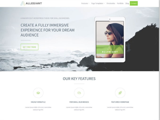 Create a responsive wordpress complete site for you by Ahtsham11