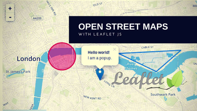 integrate open street maps to your web application using leafletjs
