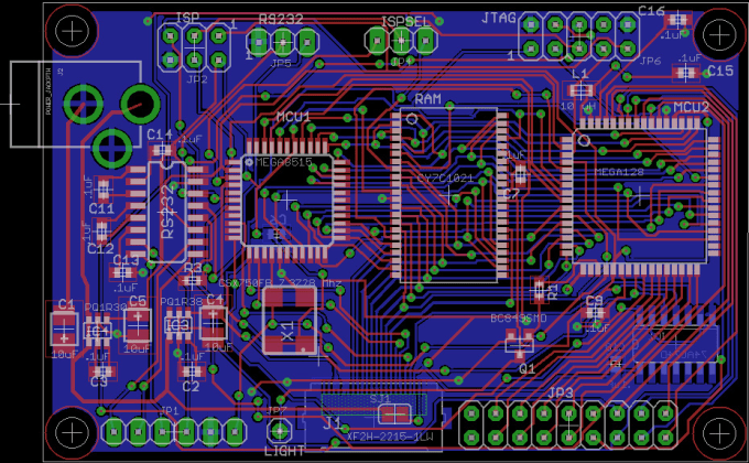 Design a pcb on eagle software by Moh201630