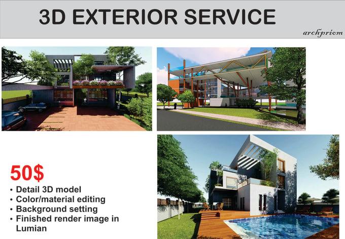 Do 3d Sketch Up Model For Exterior
