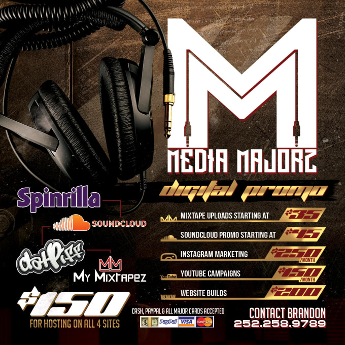 upload your single or mixtape to mymixtapez and spinrilla by mediamajorz