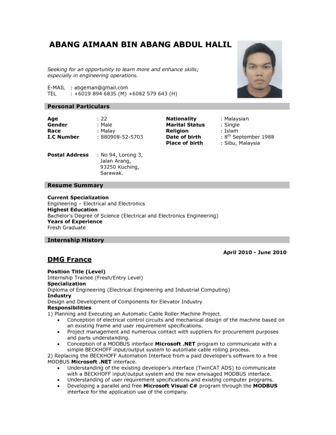 Compose An Attractive Resume Letter Along With Cv By Vivaankhanna