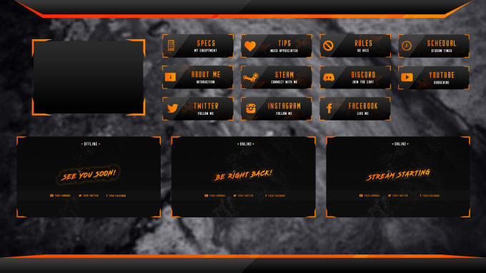 supply you with the following twitch overlay