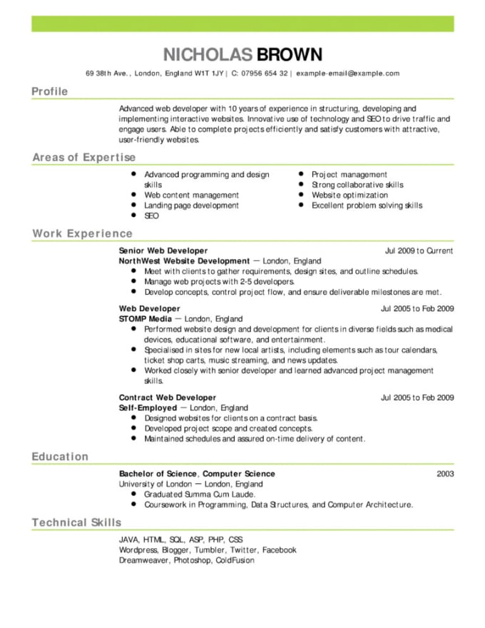 make resumes and cover letters specific to you
