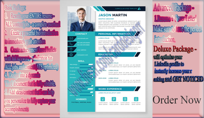 Create and design a resume, cover letter or linkedin page by ...