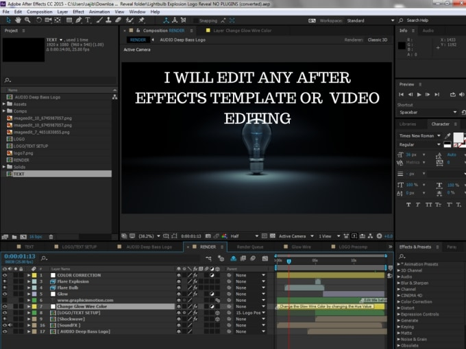 Edit Any After Effects Template Or Video Editing By Zihana - After effects template editing