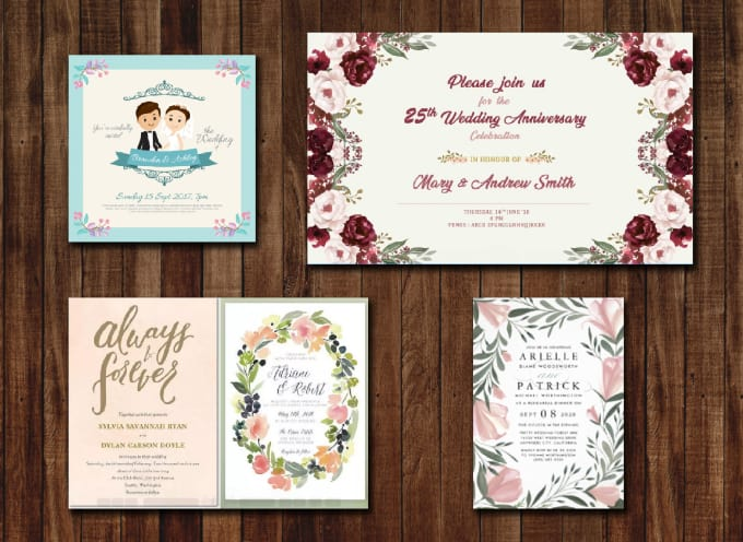 Design Wedding Birthday Party Event Invitation Cards
