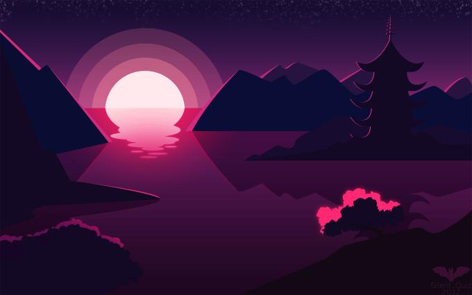 Landscape Illustration Vector Free: Create A Flat Landscape Illustration For You By Silent_quiz