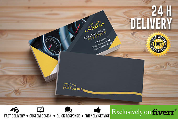 Professional business card flyer design fiverr design a professional business card within 24 hours reheart Images