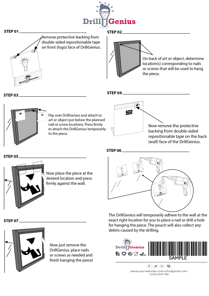 Illustrate Your Product And Design Instruction Manual By