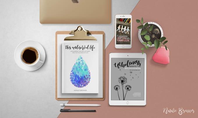 Design A Book Or Ebook Cover Including Mockup Images