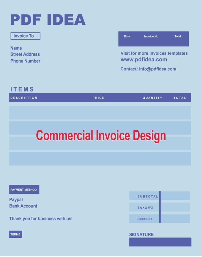 Fillable Pdf Form Fillable Pdf Invoice Design - Commercial invoice pdf fillable
