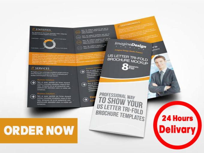 design eye catching flyer brochure gift card within 24 hours by