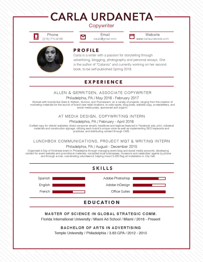 design your resume and cover letter