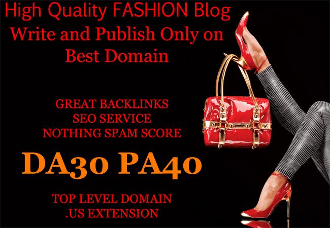 write guest post on HQ fashion blog da30 permanent dofollow