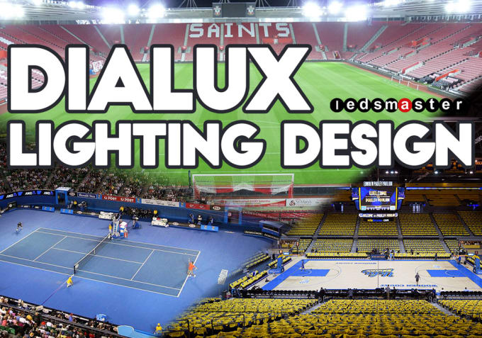Dialux sports lighting