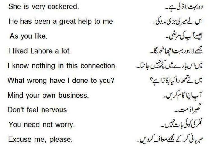 Would you mind meaning in urdu
