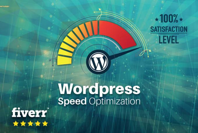 wordpress speed - Fiverr