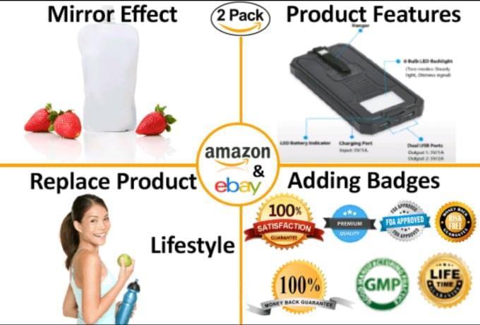 Do product editing for amazon ebay so fast by Fahadnizar