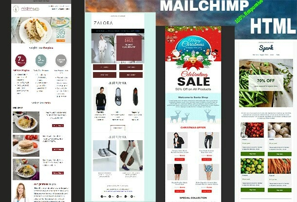 design outstanding html and mailchimp template newsletter