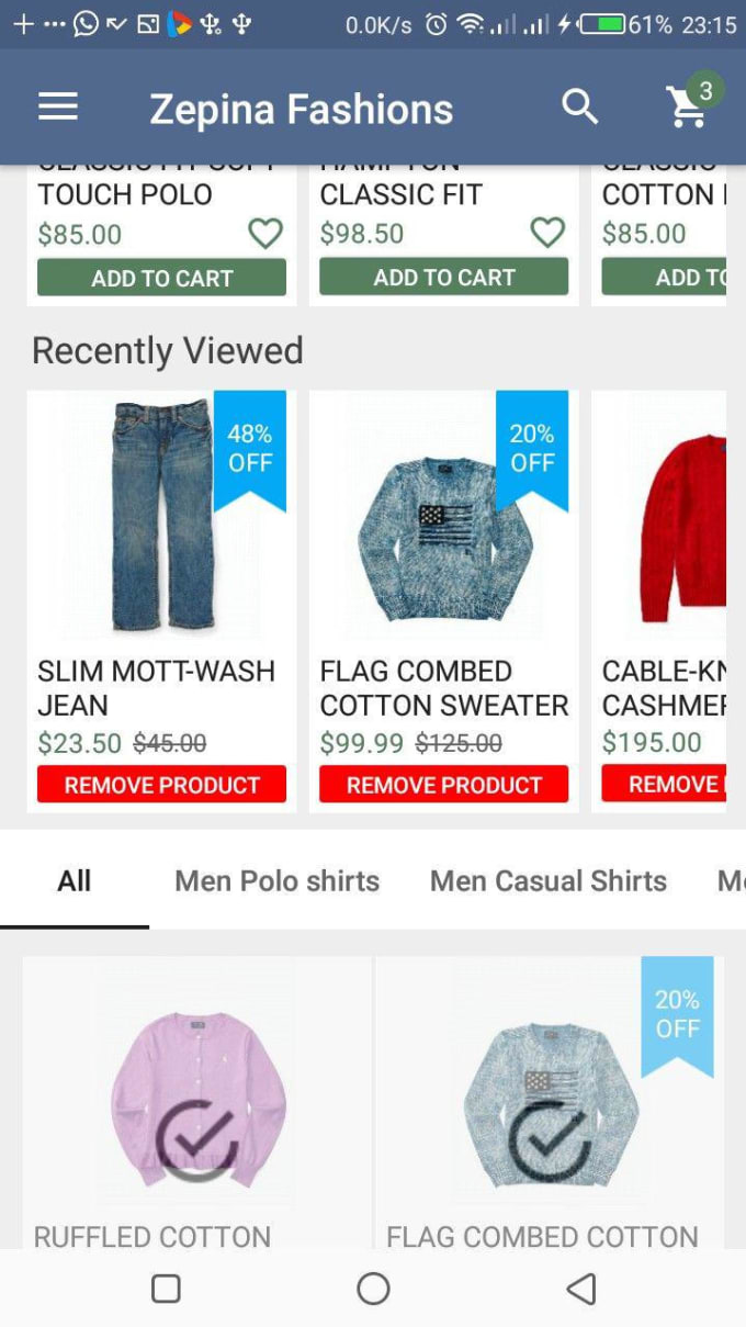 skyaloh : I will give you my ecommerce android app source code plus admin  cms for $40 on www fiverr com
