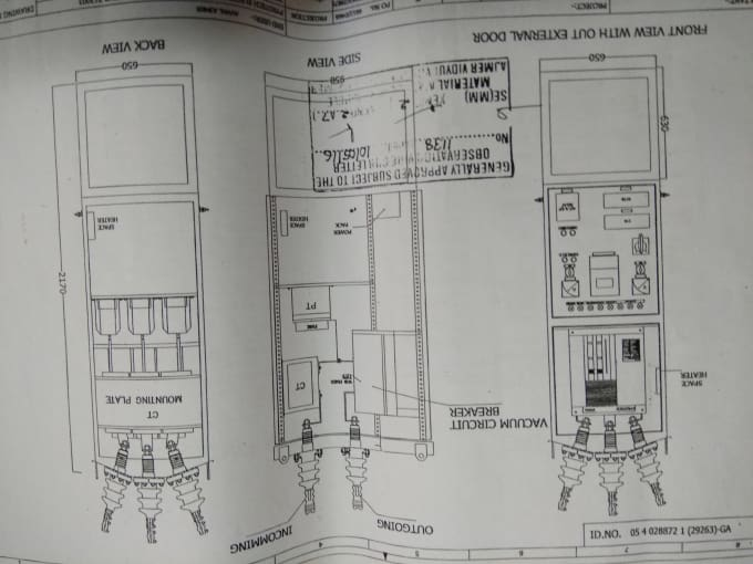 Make autocad drawing of panels and their wiring in 2d from rough ...