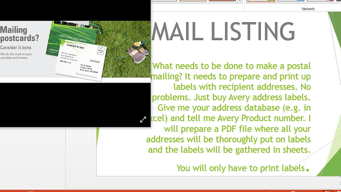 convert your addresses to any avery labels