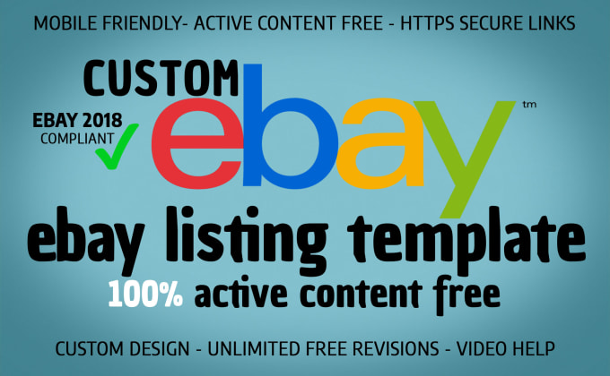 Create Responsive Professional Ebay Listing Template By Shahroz - Mobile friendly ebay template