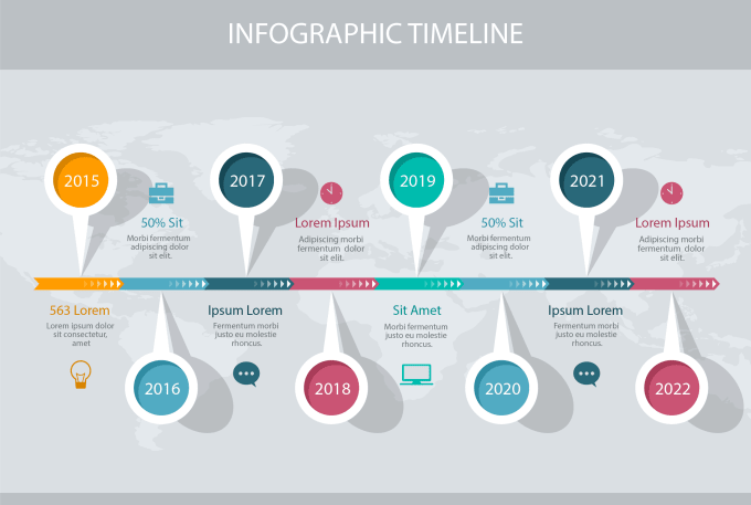 create professional timeline infographic by banglasignature